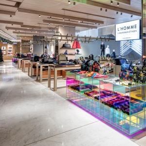 A view of the new Printemps de l'Homme accessories department.