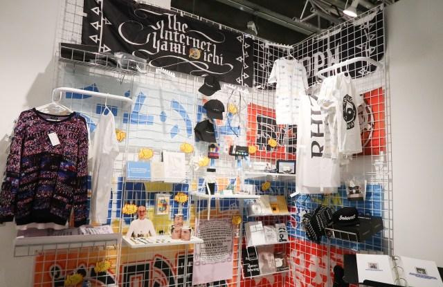 Rhizome's booth at the NADA art fair.