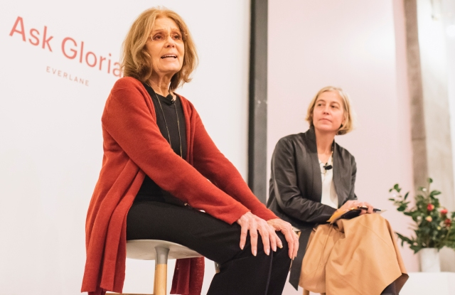 Gloria Steinem and Amy Richards at Everlane's Ask Gloria event.