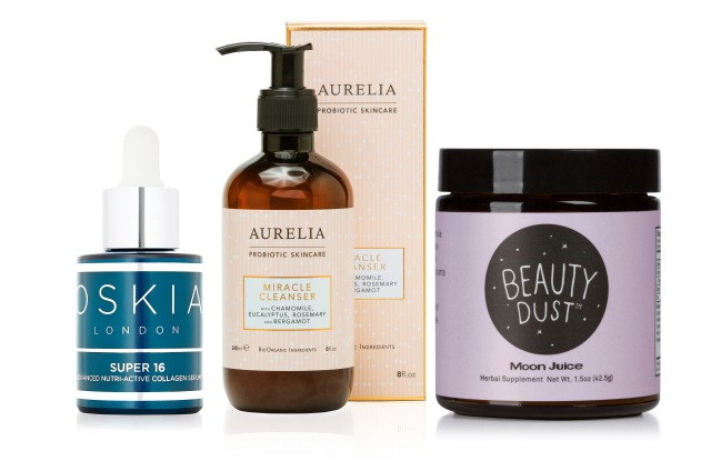 A selection of hero products from Barneys New York's Conscious Beauty category.