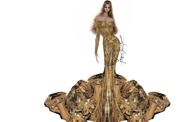 Beyoncé Falguni Shane Peacock Wearable Art Gala