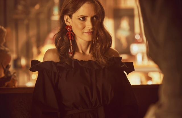 Winona Ryder in a behind-the-scenes image of the H&M campaign.