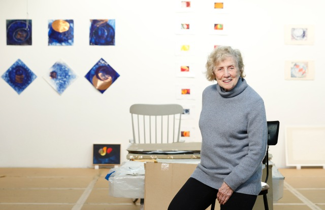 DOROTHEA ROCKBURNE IN HER ARTIST STUDIO