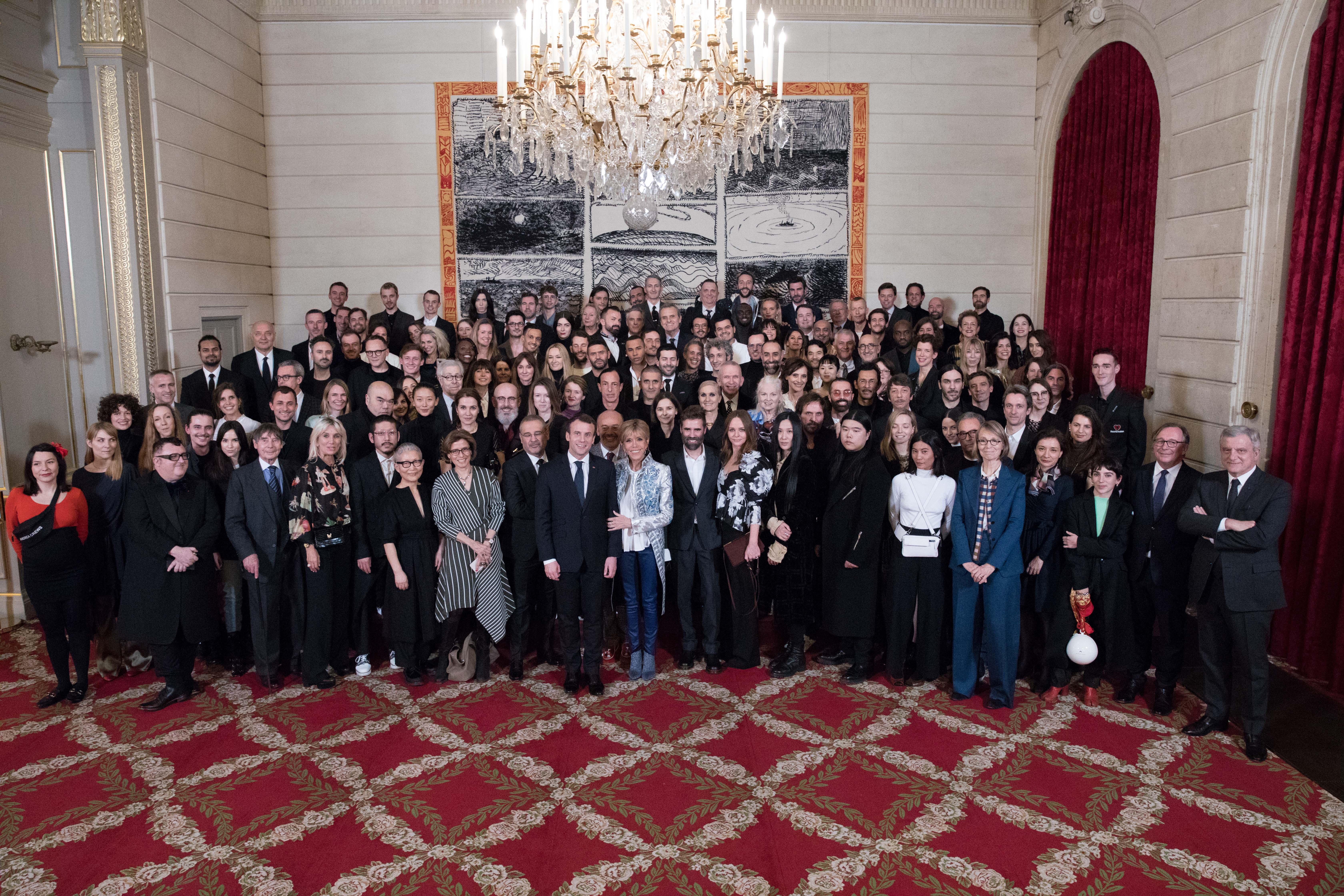Paris fashion industry at the Élysée dinner