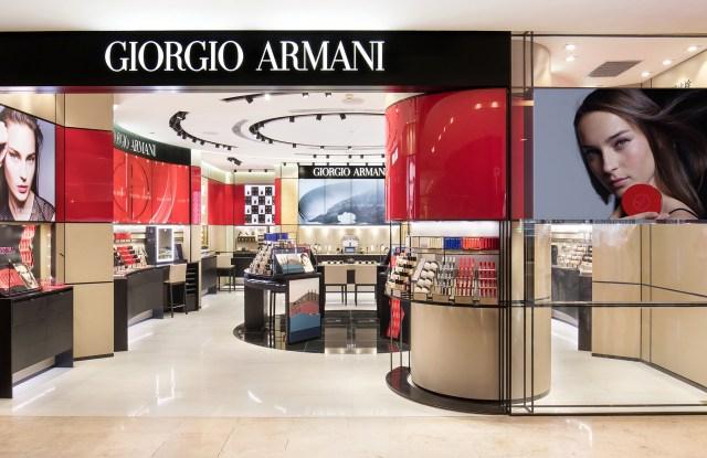 A Giorgio Armani Beauté boutique