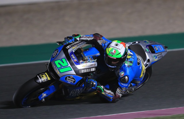 Franco Morbidelli during the Qatar racing competition.