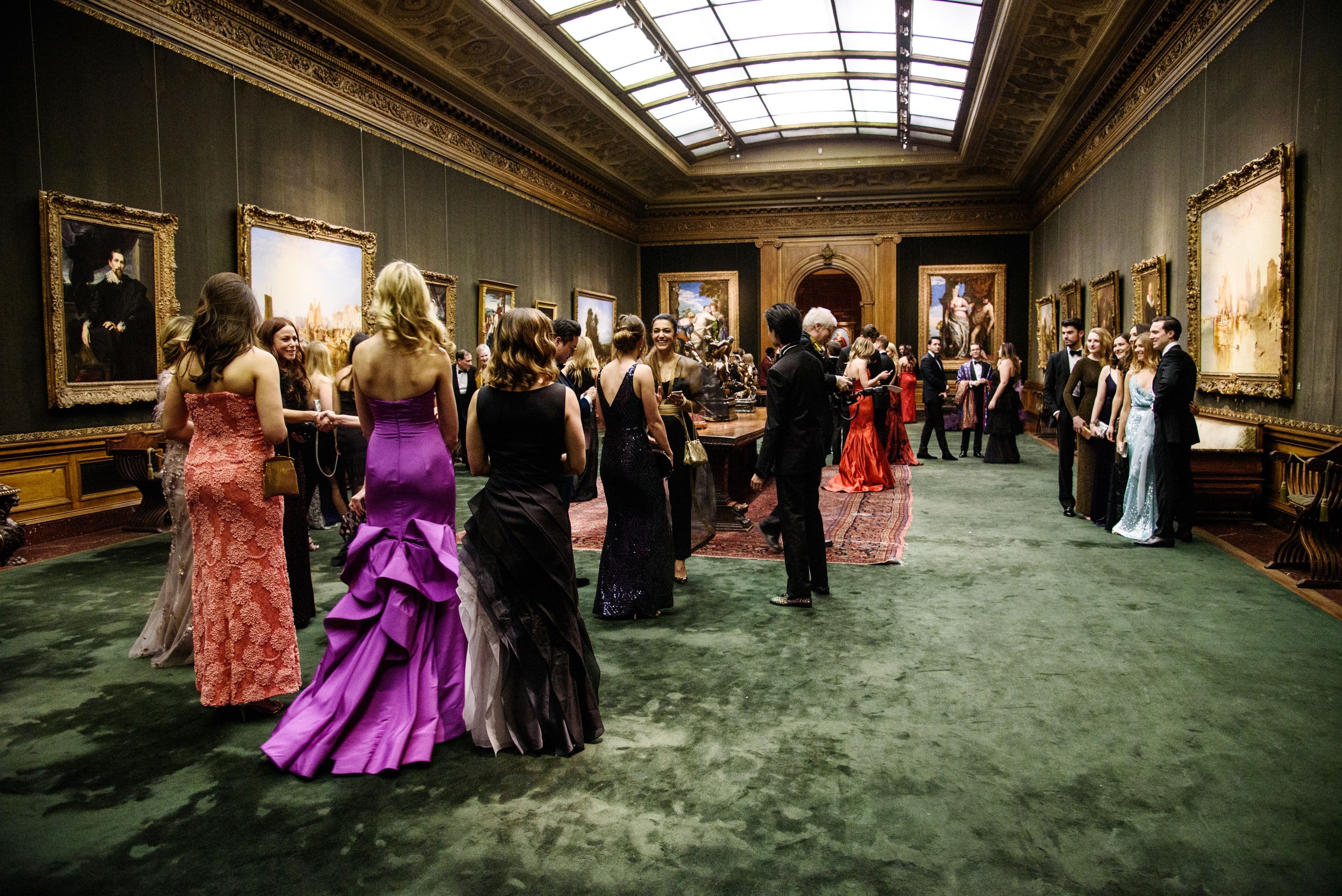 The scene at the Frick.