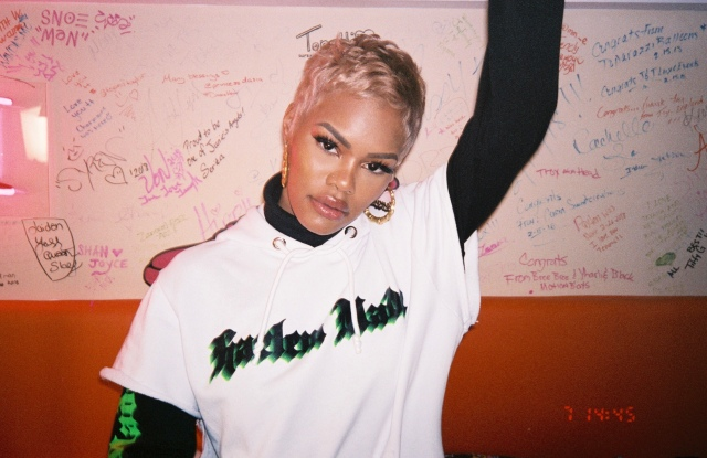 """A picture from GCDS x Teyana Taylor """"Harlem made"""" capsule collection's ad campaign."""