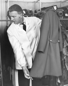 """Outtake; Portrait of fashion designer Hubert de Givenchy sporting an Antigua suntan where he discussed work on his male commitments (shirts, ties, luggage and cosmetics) during an interview with Women's Wear Daily on March 17, 1970 in New York.Article title: """"Eye"""""""