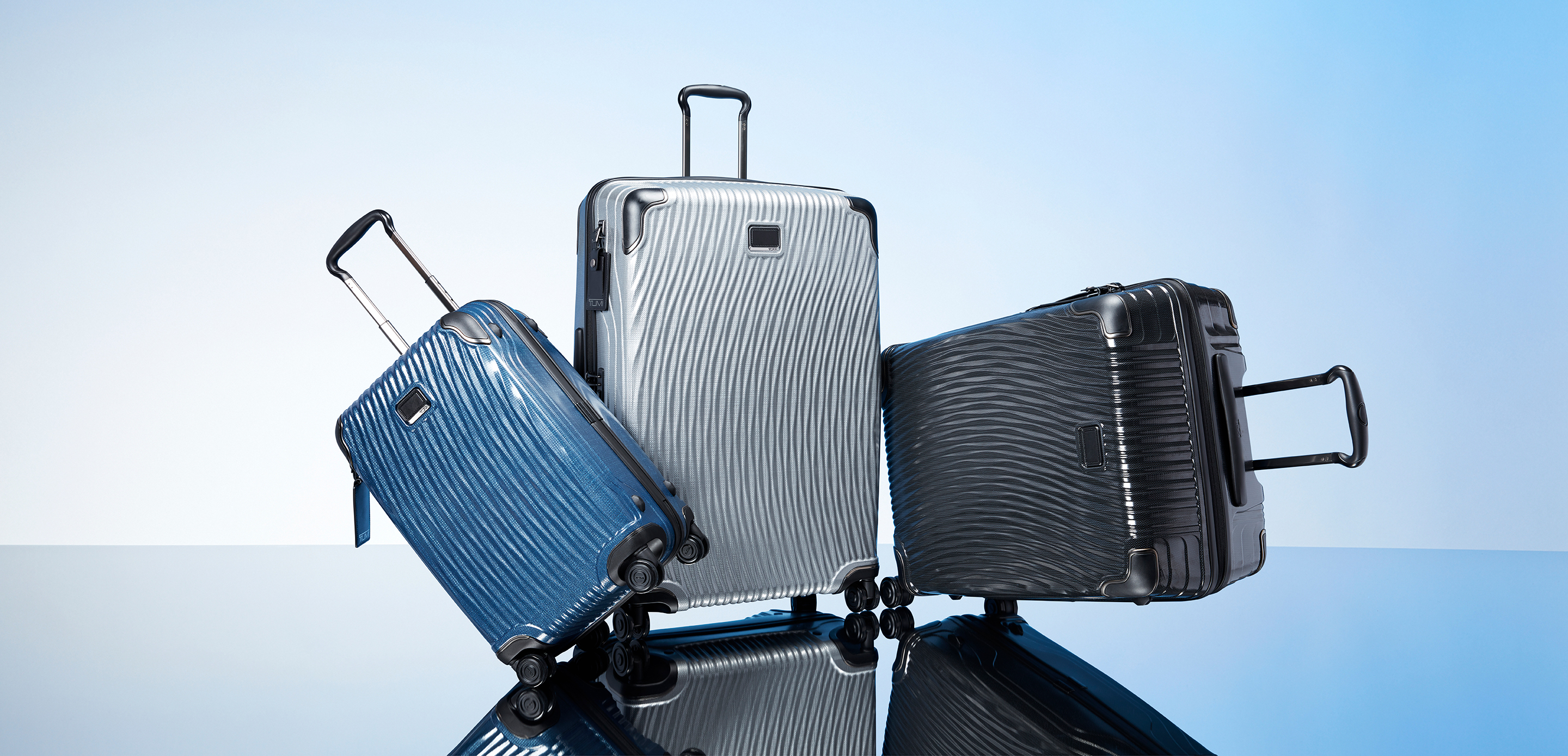 Options from Tumi's Latitude collection.