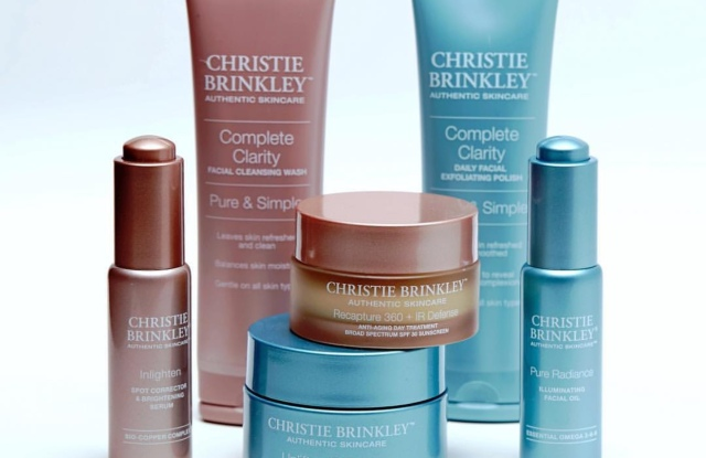 Authentic Christie Brinkley skin care packaging.