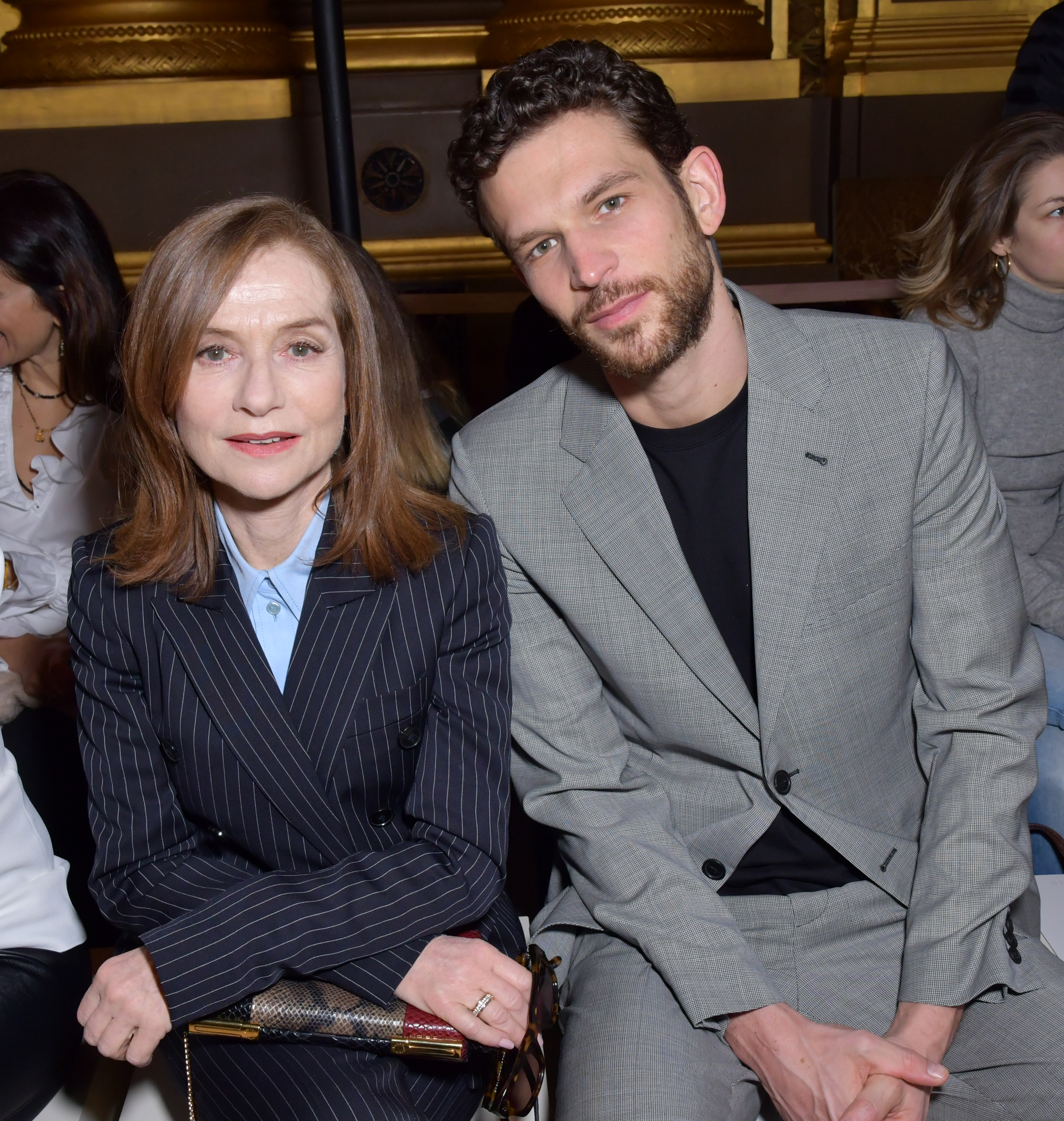 Isabelle Huppert and Arnaud Valois