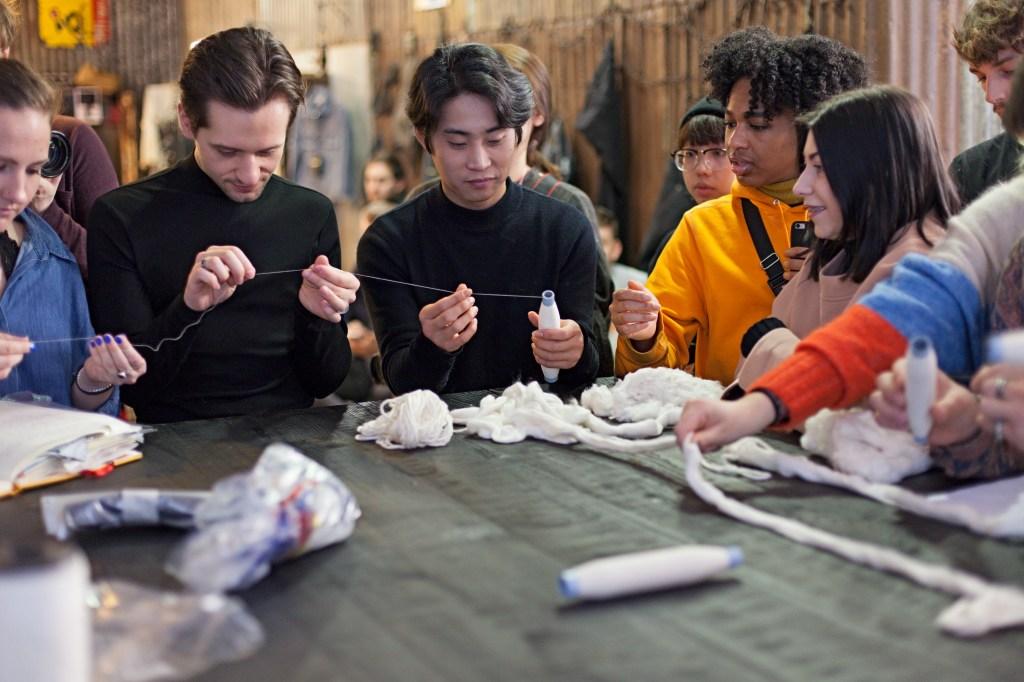 Fashion students attending the ISKO I-SKOOL Denim Seminar Workshop.
