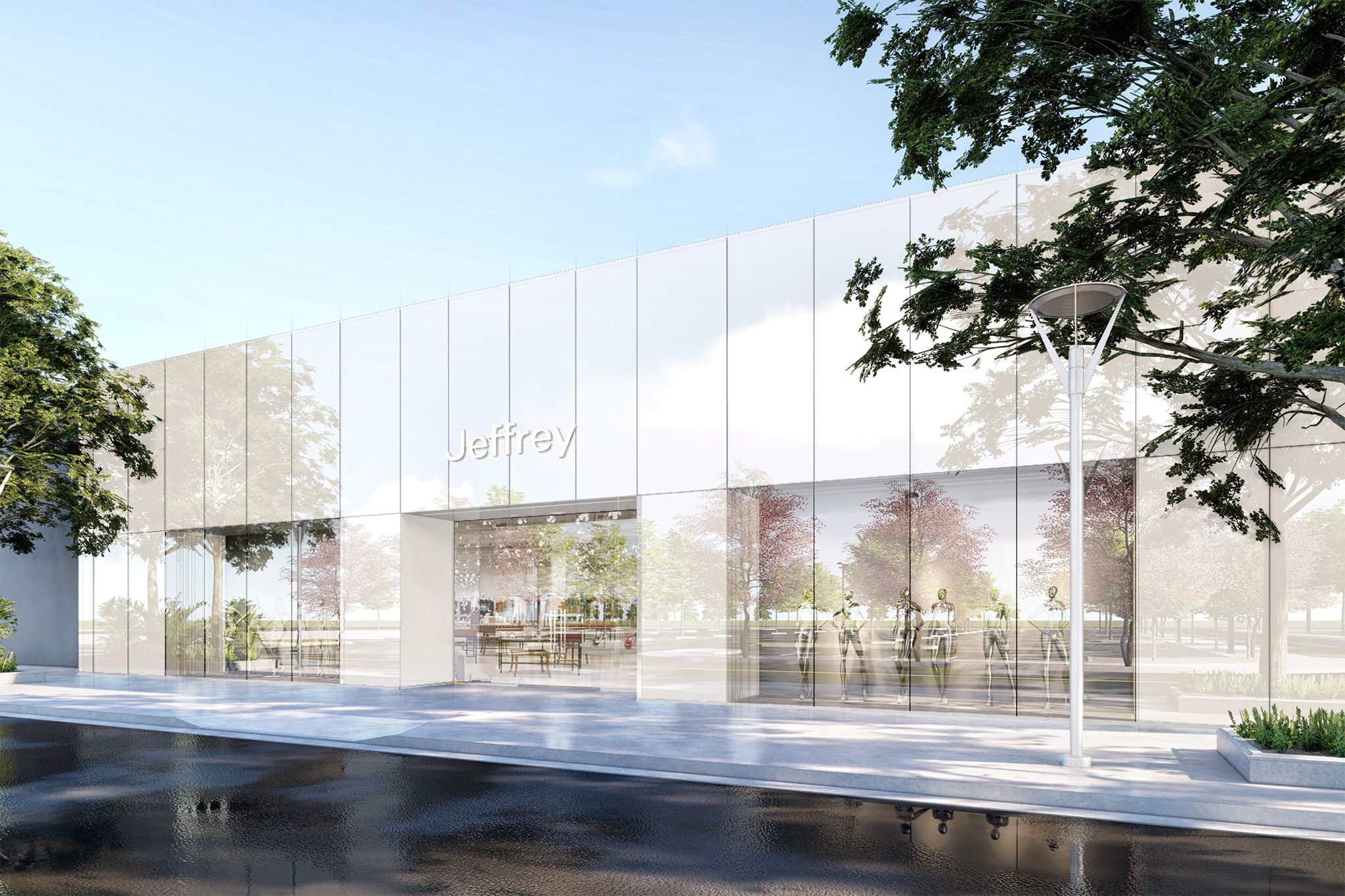 The new Jeffrey store at the Stanford Shopping Center in Palo Alto, California.
