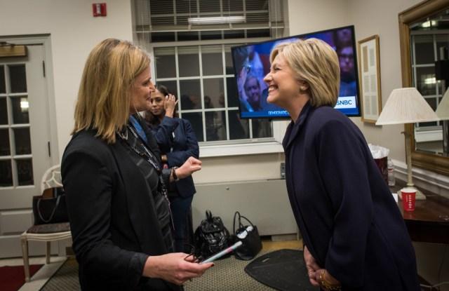 Jennifer Palmieri and Hillary Clinton