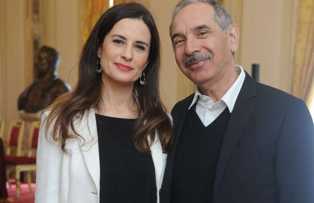 Livia Firth and Carlo Capasa