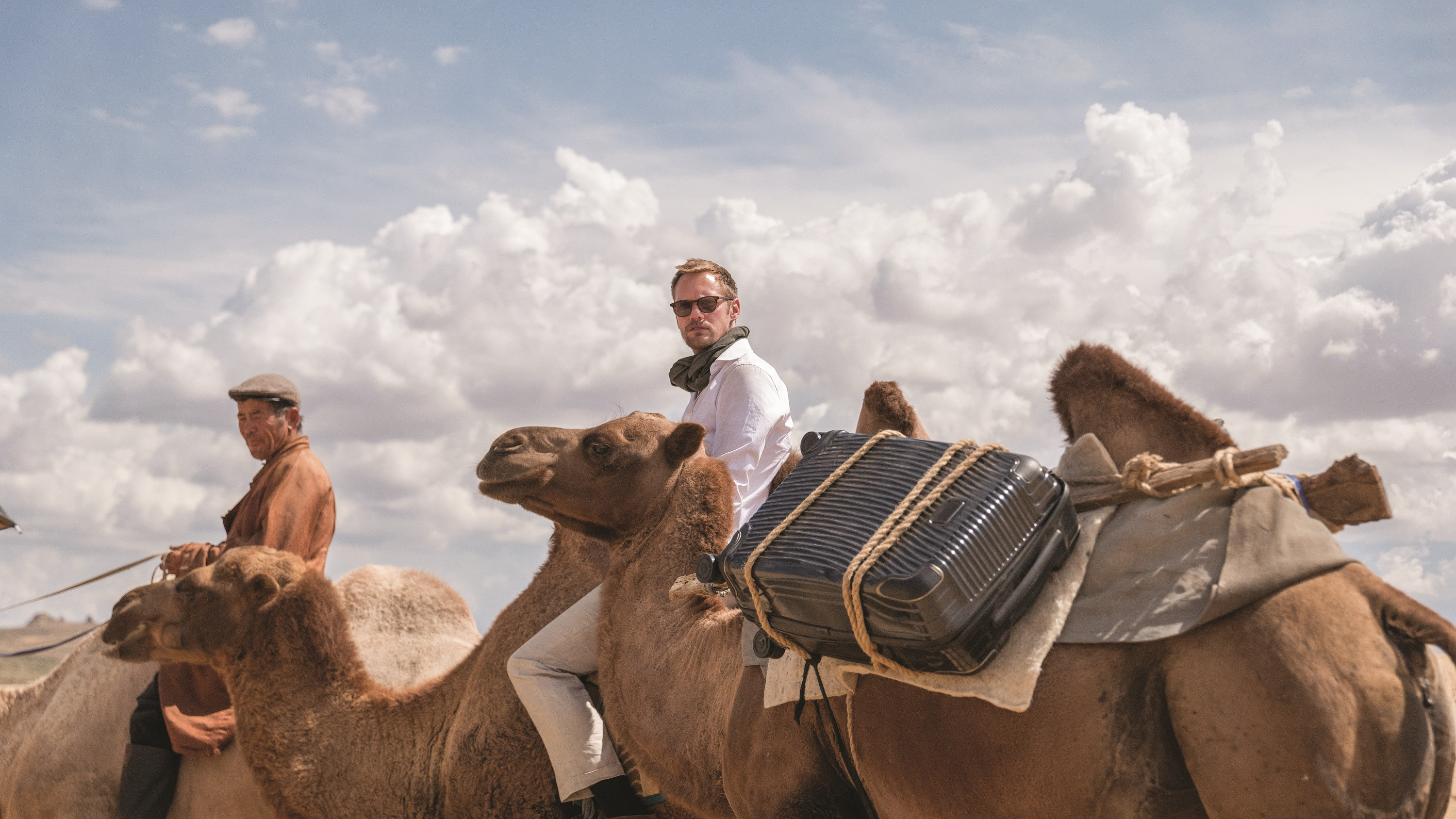 Alexander Skarsgård is fronting Tumi's new campaign for its Latitude collection.
