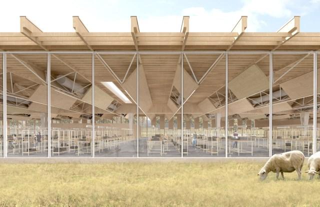 A rendering of Louis Vuitton's Beaulieu-sur-Layon site.
