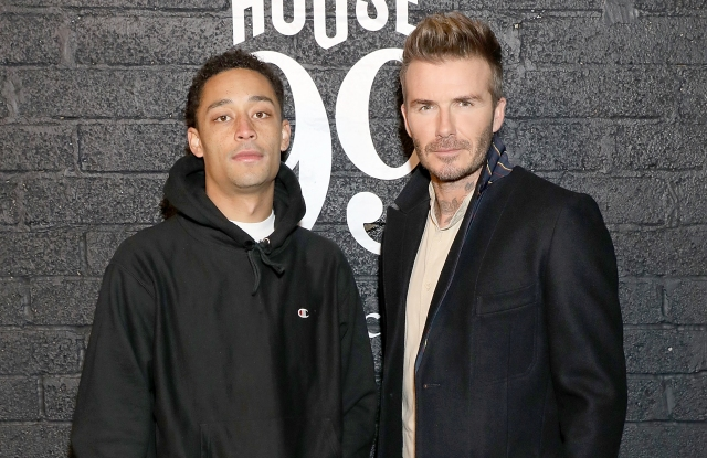 Loyle Carner and David Beckham at the House 99 by David Beckham launch party in London