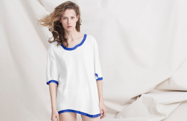 A look from Vanessa Schindler's line for Petit Bateau.