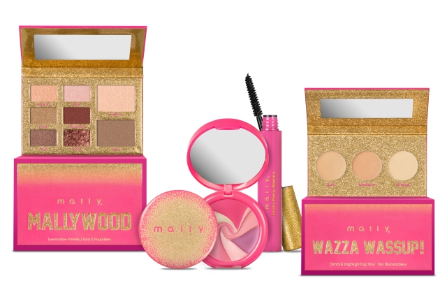 An assortment of products from Mally Beauty's Mallywood collection.