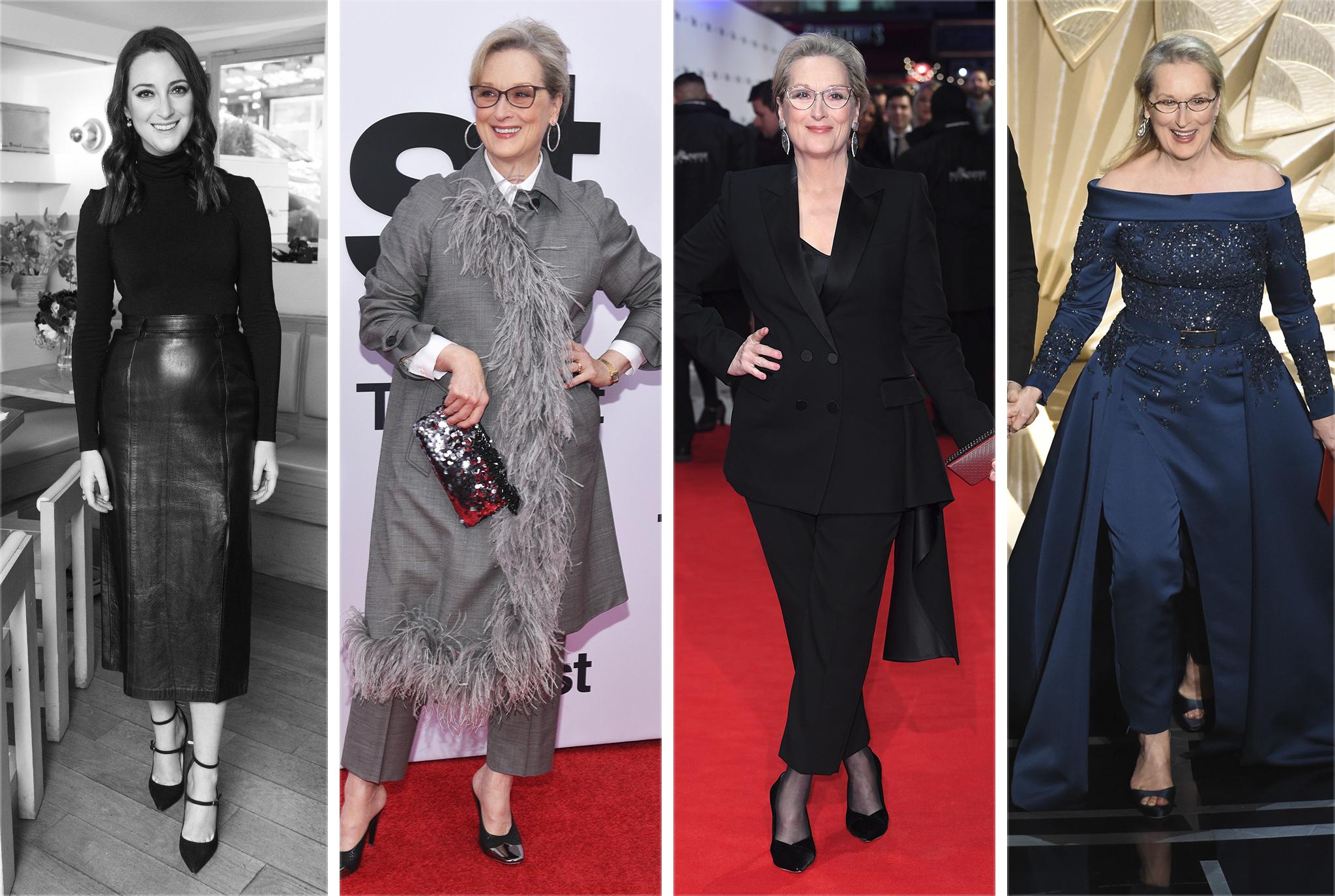 Micaela Erlanger with Meryl Streep in Prada, Alexander McQueen and Elie Saab