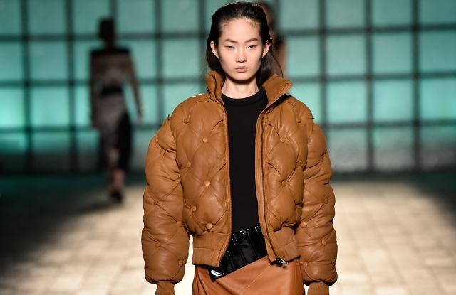 Moose Knuckles and Mary Katrantzou's Chesterfield bomber on the runway