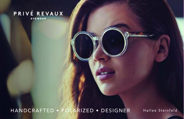 Hailee Steinfeld in her Prive Revaux shades.