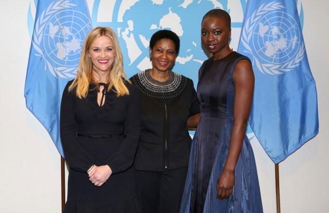 Reese Witherspoon, Phumzile Mlambo-Ngcuka and Danai Gurira.