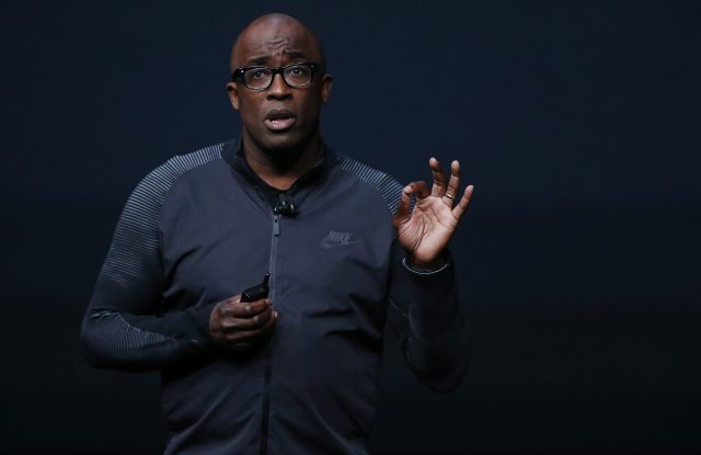 Nike President Trevor Edwards Speaks About the New Apple Watch During the Apple Launch Event at the Bill Graham Civic Auditorium in San Francisco California Usa 07 September 2016 Media Reports Indicate an Expected Launch of Several New Products Including a New Iphone New Apple Watch and New Operating Systems United States San FranciscoUsa Apple Event - Sep 2016