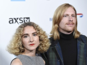 Alaina Moore, left, and Patrick Riley, of Tennis, attend the David Lynch Foundation Music Celebration at the Theatre at Ace Hotel, in Los AngelesDavid Lynch Foundation Music Celebration, Los Angeles, USA