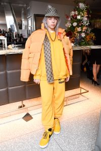 In the US: Exclusive - Premium Rates Apply. In the UK and Germany: Exclusive - No Minimums Mandatory Credit: Photo by Joe Schildhorn/BFA/REX/Shutterstock (9219602r) Billie Eilish Glamour Women of the Year, New York, USA - 12 Nov 2017