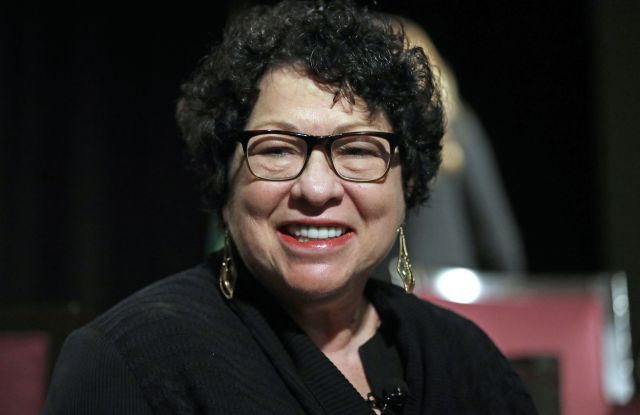Supreme Court Associate Justice Sonia Sotomayor speaks at a civics event, in Seattle. The Civic Learning Initiative Summit is part of a statewide effort for students to learn about and engage in governmentThe Civic Learning Initiative Summit, Seattle, USA - 23 Jan 2018