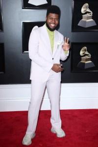 Khalid60th Annual Grammy Awards, Arrivals, New York, USA - 28 Jan 2018WEARING SALVATORE FERRAGAMO
