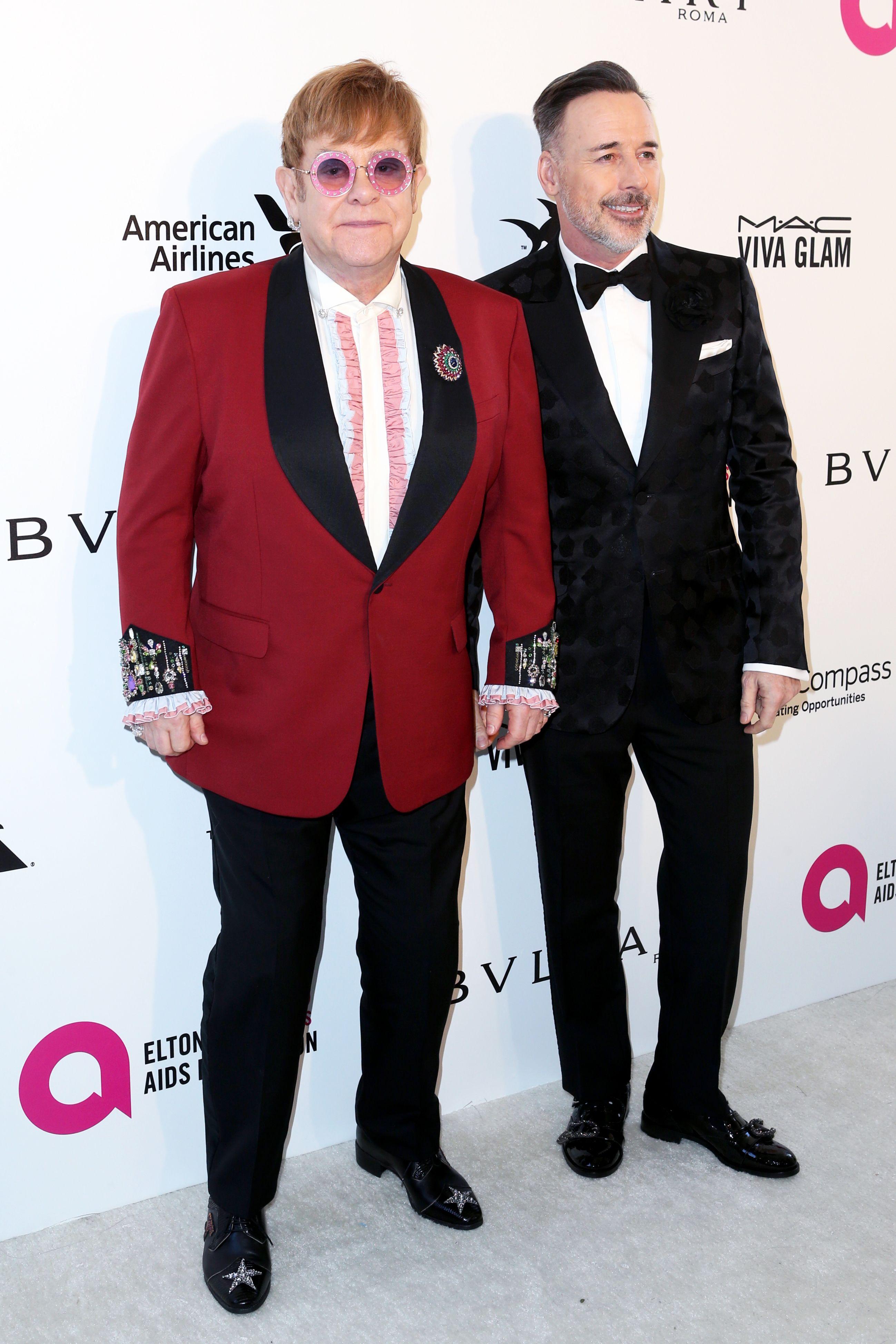 Sir Elton John and David Furnish Elton John AIDS Foundation Academy Awards Viewing Party, Arrivals, Los Angeles, USA - 04 Mar 2018
