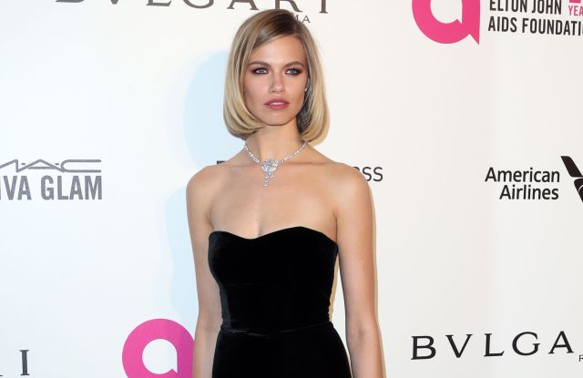 Hailey Clauson Elton John AIDS Foundation Academy Awards Viewing Party, Arrivals, Los Angeles, USA - 04 Mar 2018WEARING MONIQUE LHUILLIER