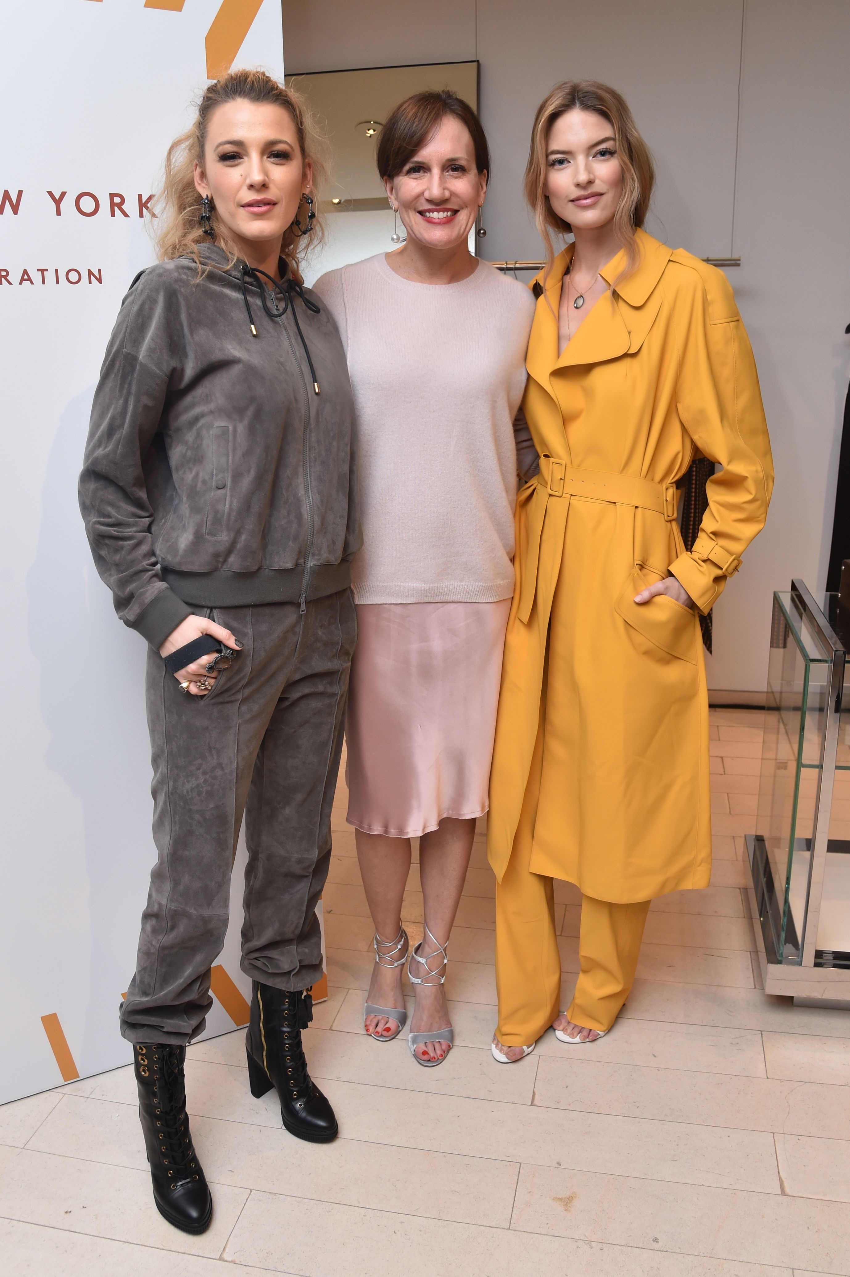 Blake Lively, Tomm Miller and Martha HuntBarneys New York celebrates the launch of Tod's Capsule Collection, New York, USA - 15 Mar 2018