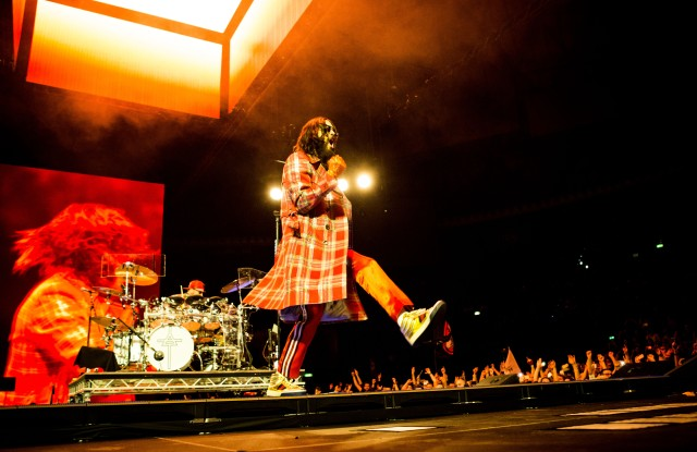 Thirty Seconds To Mars in concert at Unipol Arena, Bologna, Italy.