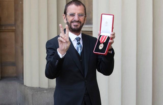 Sir Ringo Starr in his custom John Varvatos suit.