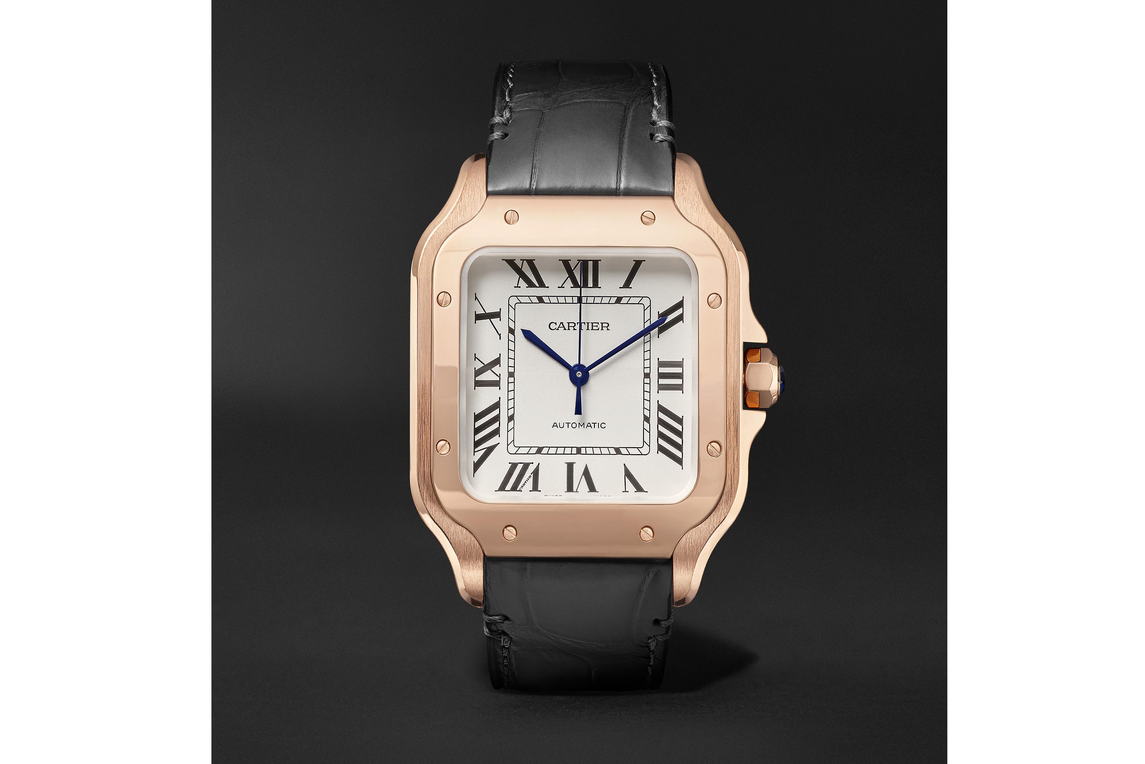 A Santos de Cartier watch launching on Mr Porter