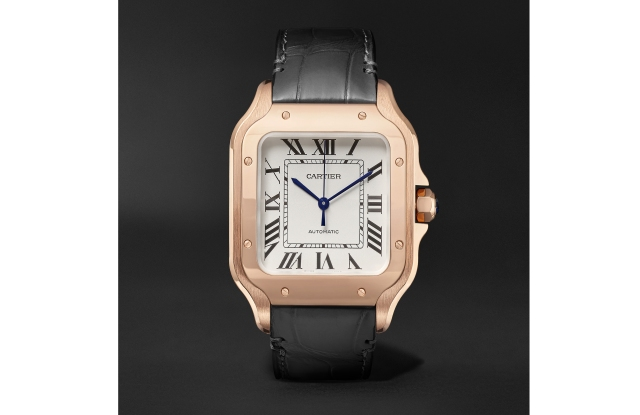 A Santos de Cartier watch launching on Mr Porter