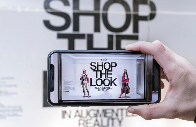Zara's AR app.