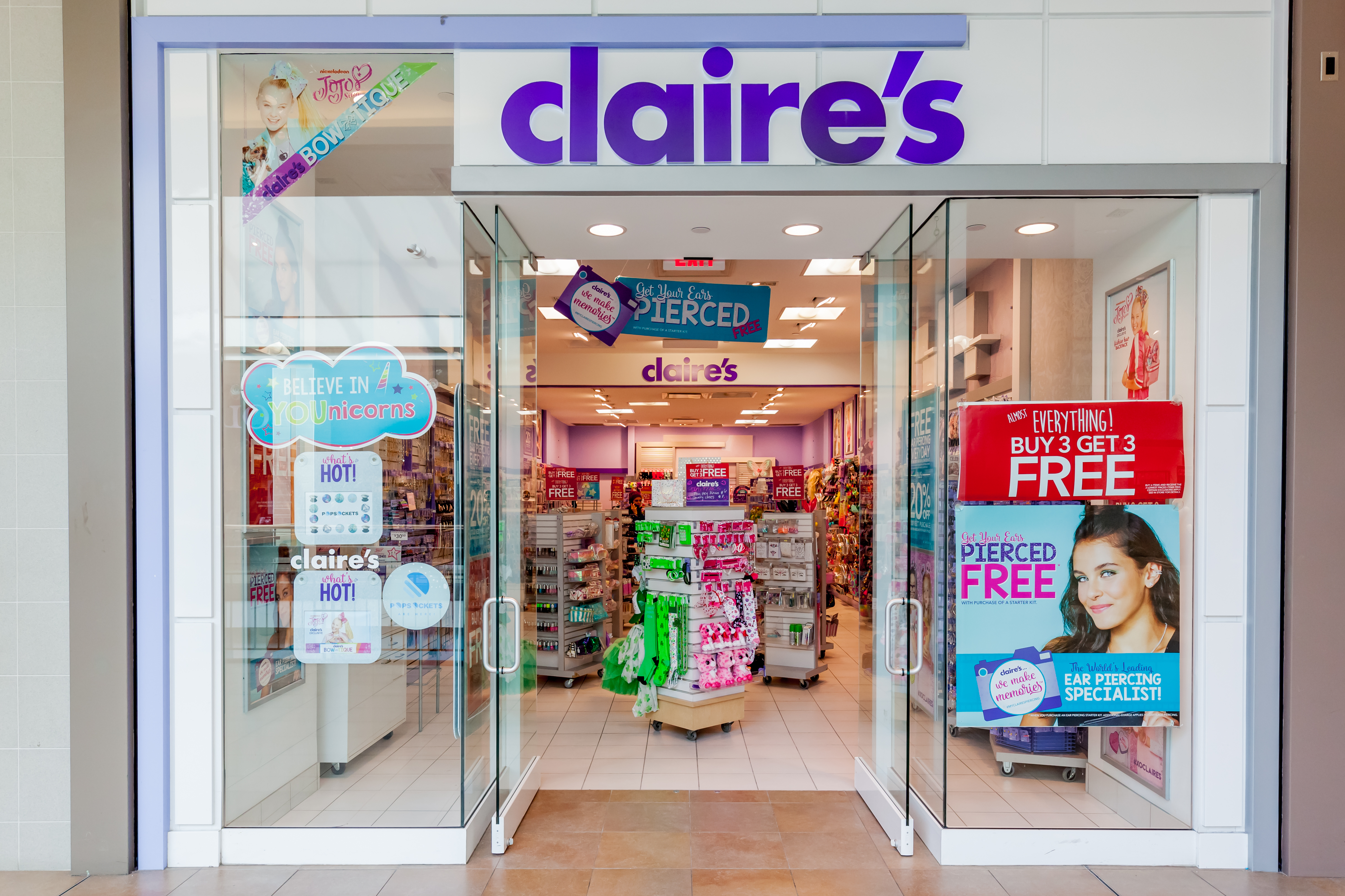 A Claire's storefront.