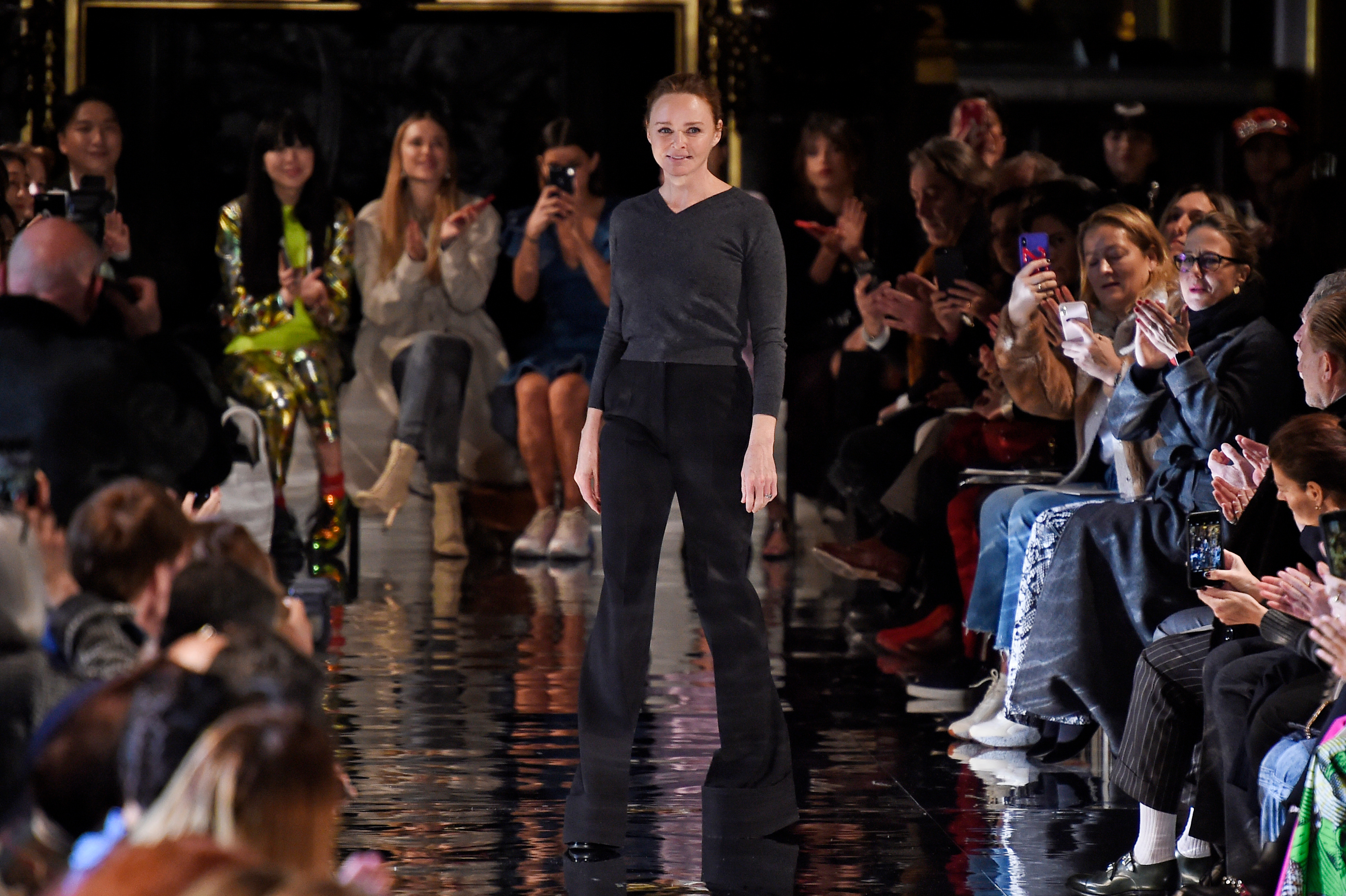 Stella McCartney on the catwalkStella McCartney show, Runway, Fall Winter 2018, Paris Fashion Week, France - 05 Mar 2018