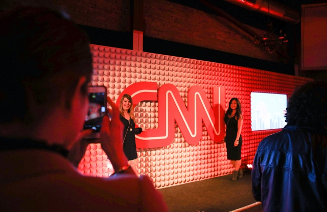 The scene at the CNN party.
