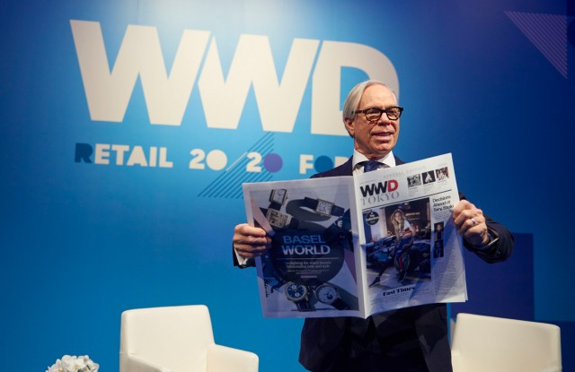 Tommy Hilfiger at WWD's inaugural Tokyo summit in partnership with Lumine.