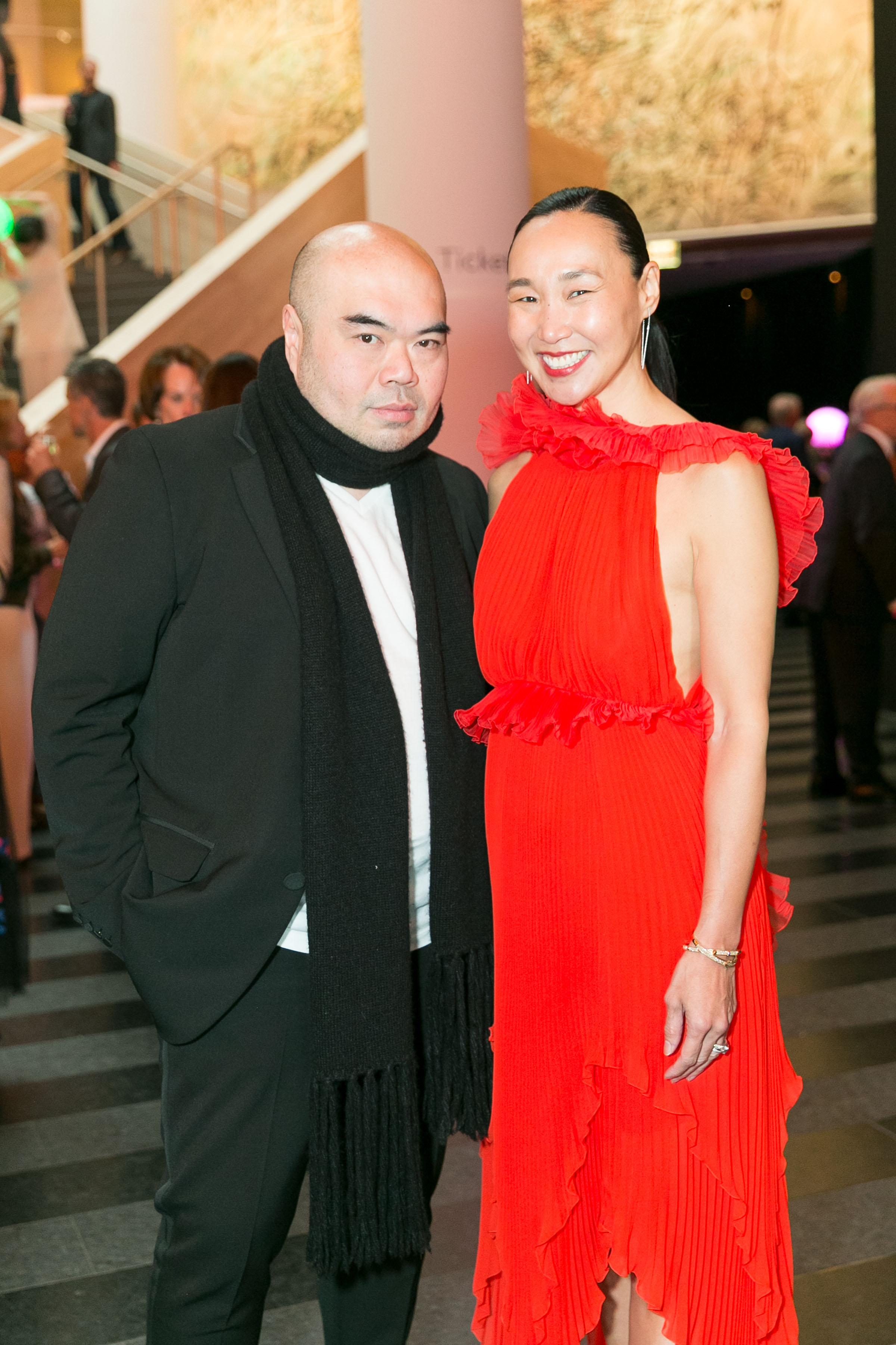 Andrew Gn and Carolyn Chang attend SFMOMA Modern Ball 2018 on April 25th 2018 at SFMOMA in San Francisco, CA (Photo - Jessica Monroy for Drew Altizer Photography)