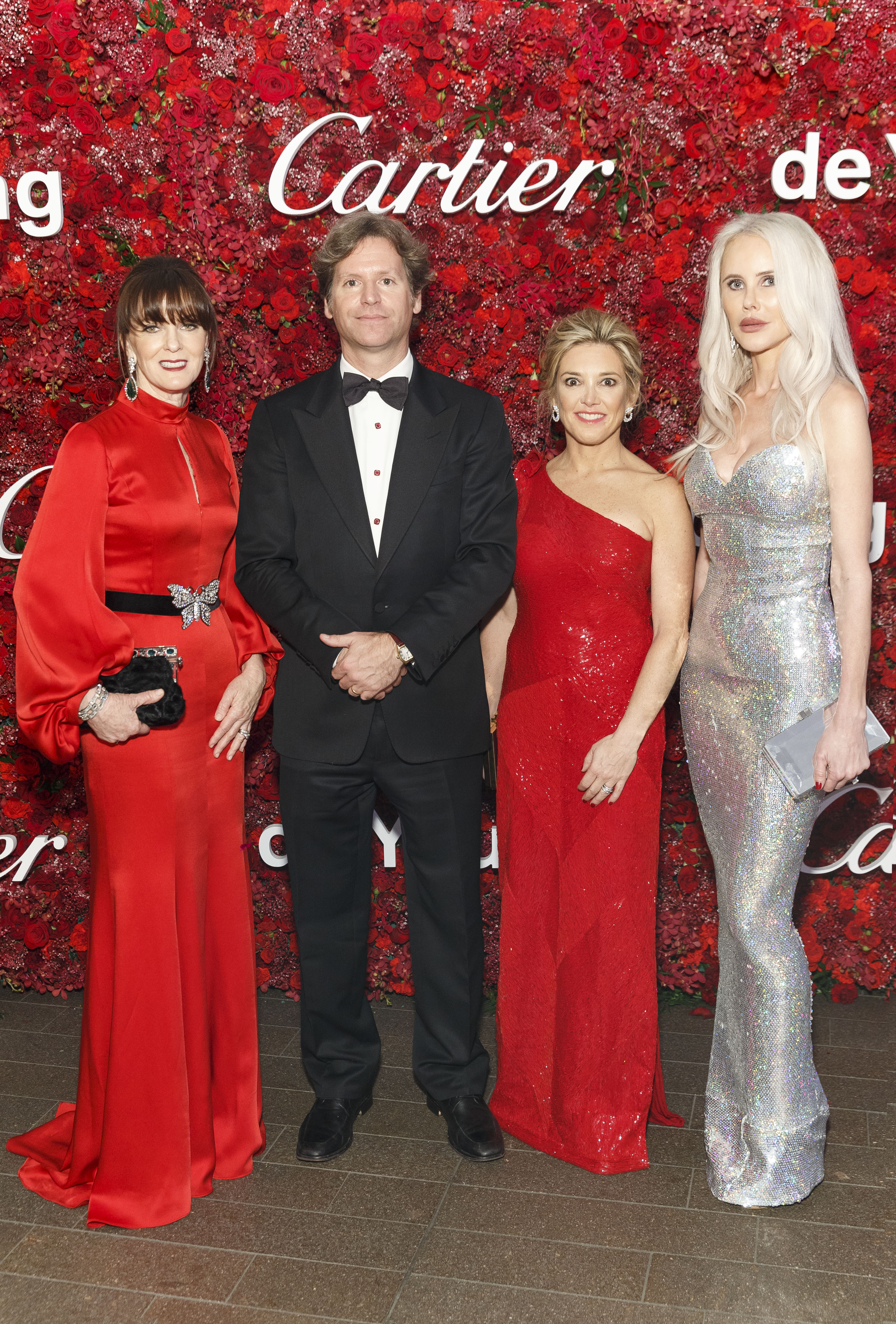 Allison Speer, Trevor Traina, Kathryn Lasater and Vanessa Getty attend Mid-Winter Gala 2018 Sponsored by CARTIER on April 6th 2018 at de Young Museum in San Francisco, CA (Photo - Devlin Shand for Drew Altizer Photography)