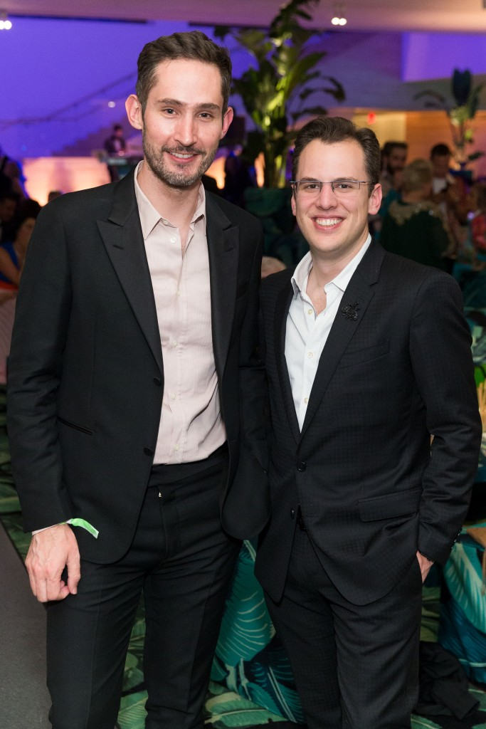 SAN FRANCISCO, CA - April 25 - Kevin Systrom and Mike Krieger attend SFMOMA Modern Ball 2018 on April 25th 2018 at SFMOMA in San Francisco, CA (Photo - Devlin Shand for Drew Altizer Photography)
