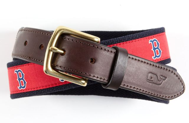 A belt from Vineyard Vines' Red Sox collection.